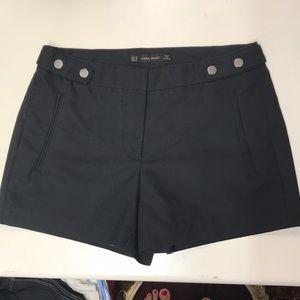 Zara basic extra small black tailored shorts.